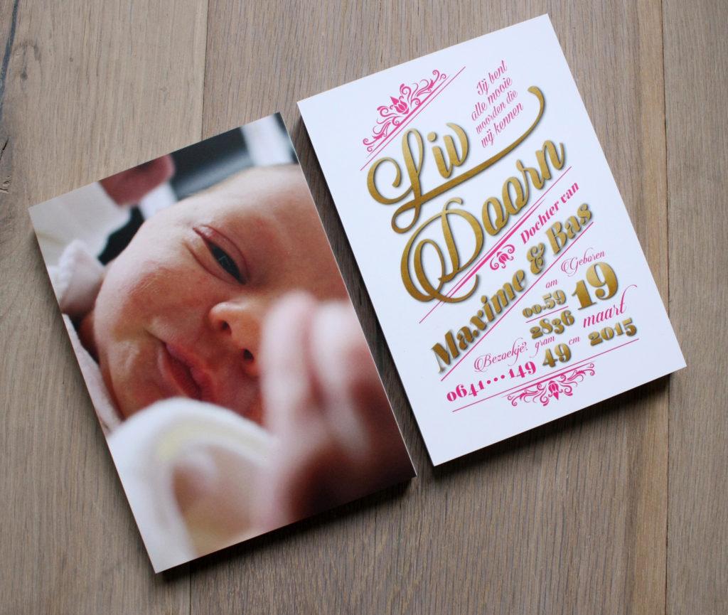 geboortekaart geboortekaartje geboortekaartjes custom made personalised custommade gepersonaliseerd