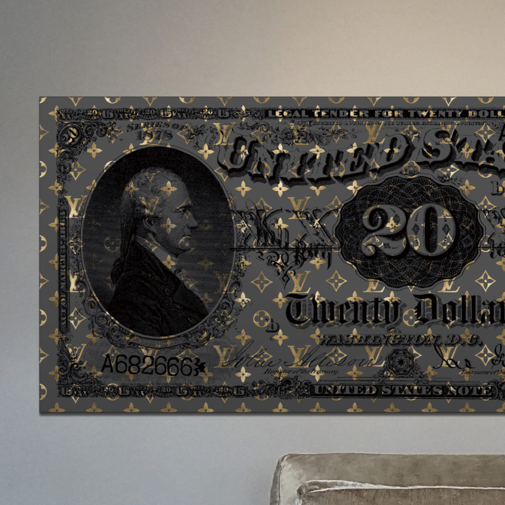20 DOLLARS LOUIS | Gold dollarart art kunst kunstwerk